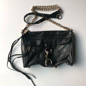 Rebecca Minkoff Black Leather Mini Crossbody Bag